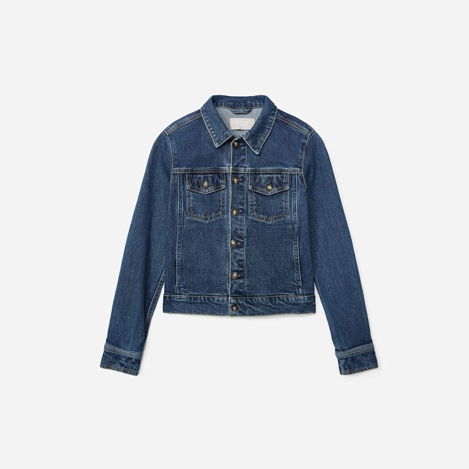 The Modern Jean Jacket in Washed Midnight (Photo via Everlane)