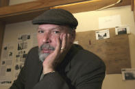 "FILE - Playwright August Wilson poses at Yale University in New Haven, Conn. on April 7, 2005. A film adaptation of August Wilson's play ""Ma Rainey's Black Bottom,"" premieres on Netflix this Friday. (AP Photo/ Michelle McLoughlin, File)"