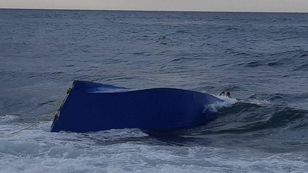 PHOTO: At least three people drowned when a boat carrying migrants capsized near Puerto Rico on Saturday, Sept. 14, 2019. (U.S. Customs and Border Protection )
