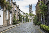 "<p>The Scottish capital is undoubtedly at its prettiest in the autumn months. A brisk clamber around the gothic architecture to the famous <a href=""https://www.edinburghcastle.scot/"" rel=""nofollow noopener"" target=""_blank"" data-ylk=""slk:castle"" class=""link rapid-noclick-resp"">castle</a> is a must for newbies while Victoria Street is well worth an afternoon gander – if just for a quick photograph of its rainbow-hued buidings. <a href=""https://www.porteous.studio/"" rel=""nofollow noopener"" target=""_blank"" data-ylk=""slk:Porteous' Studio"" class=""link rapid-noclick-resp"">Porteous' Studio</a> is an absolute gem of a hideaway in the Old Town while the <a href=""https://www.lockeliving.com/eden-locke/"" rel=""nofollow noopener"" target=""_blank"" data-ylk=""slk:Eden Locke"" class=""link rapid-noclick-resp"">Eden Locke</a> apartments are a must for millennials. <em>[Photo: Getty] </em> </p>"