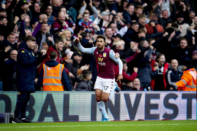Trezeguet's winner was his first goal for the club (Photo by Neville Williams/Aston Villa FC via Getty Images)