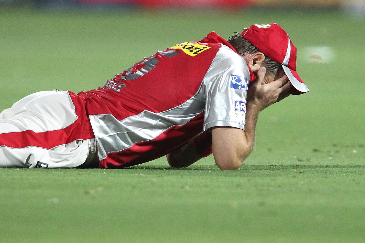 Ryan Harris of Kings XI Punjab reacts after dropping a catch in the slips during match 18 of the Pepsi Indian Premier League (IPL) 2013 between The Rajasthan Royals and the Kings Xi Punjab held at the Sawai Mansingh Stadium in Jaipur on the 14th April 2013..Photo by Shaun Roy-IPL-SPORTZPICS ..Use of this image is subject to the terms and conditions as outlined by the BCCI. These terms can be found by following this link:..https://ec.yimg.com/ec?url=http%3a%2f%2fwww.sportzpics.co.za%2fimage%2fI0000SoRagM2cIEc&t=1506158873&sig=K2g0UDvMmdpp1ZC2jCnCfg--~D