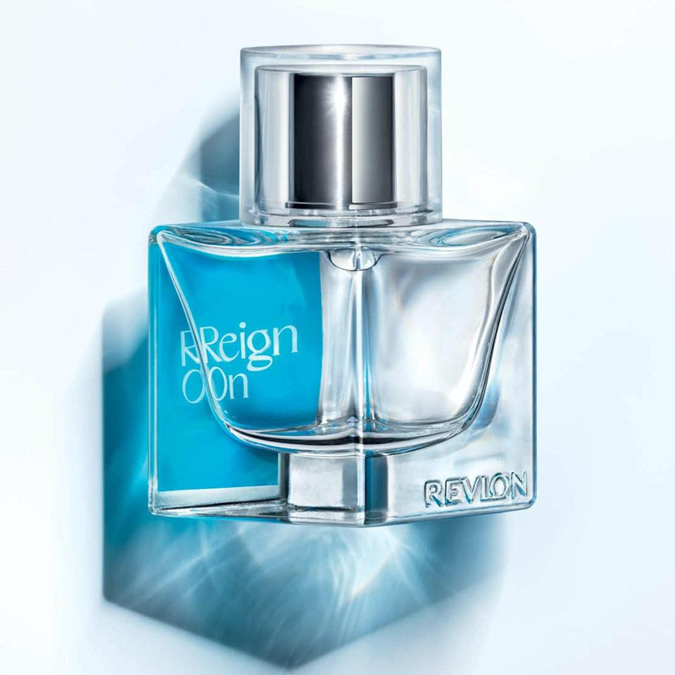 """Bet you didn't have """"Revlon drops the scent of the summer"""" on your bingo card, but here we are. Roaring onto the scene with Megan Thee Stallion as the face of the fragrance, Revon Reign can barely be categorized with its eclectic notes, including lemon confit, bamboo leaves, jasmine petals, waterlily, butterfly flower, sheer musks, and salty moss. It's powerful with a little sweetness and a whole lotta freshness — which sounds a lot like how you might describe its wearers."""