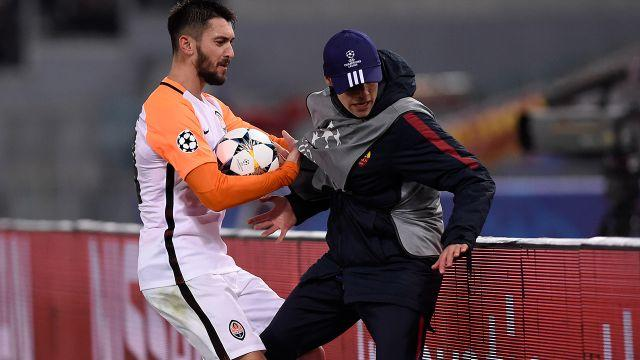Ferreyra clashes with the boy. Image: Getty