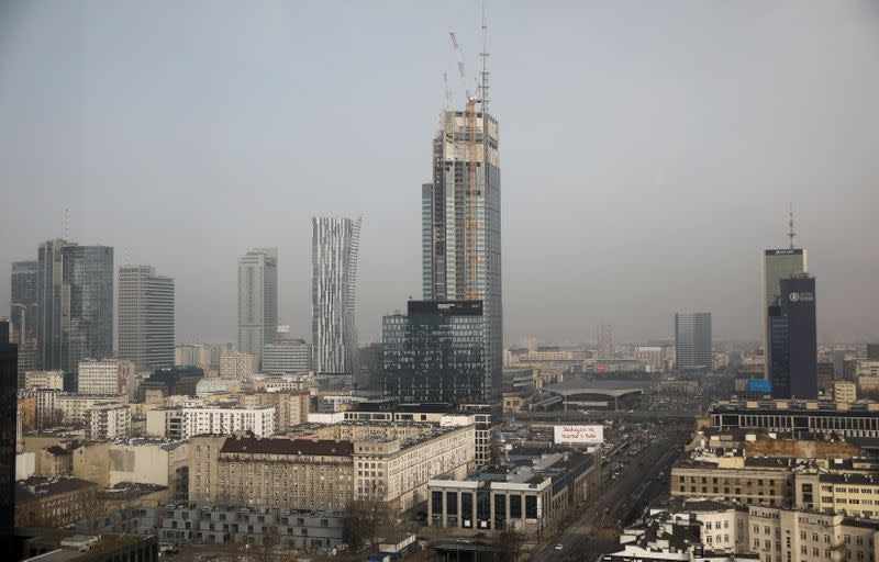 The Varso Tower in central Warsaw