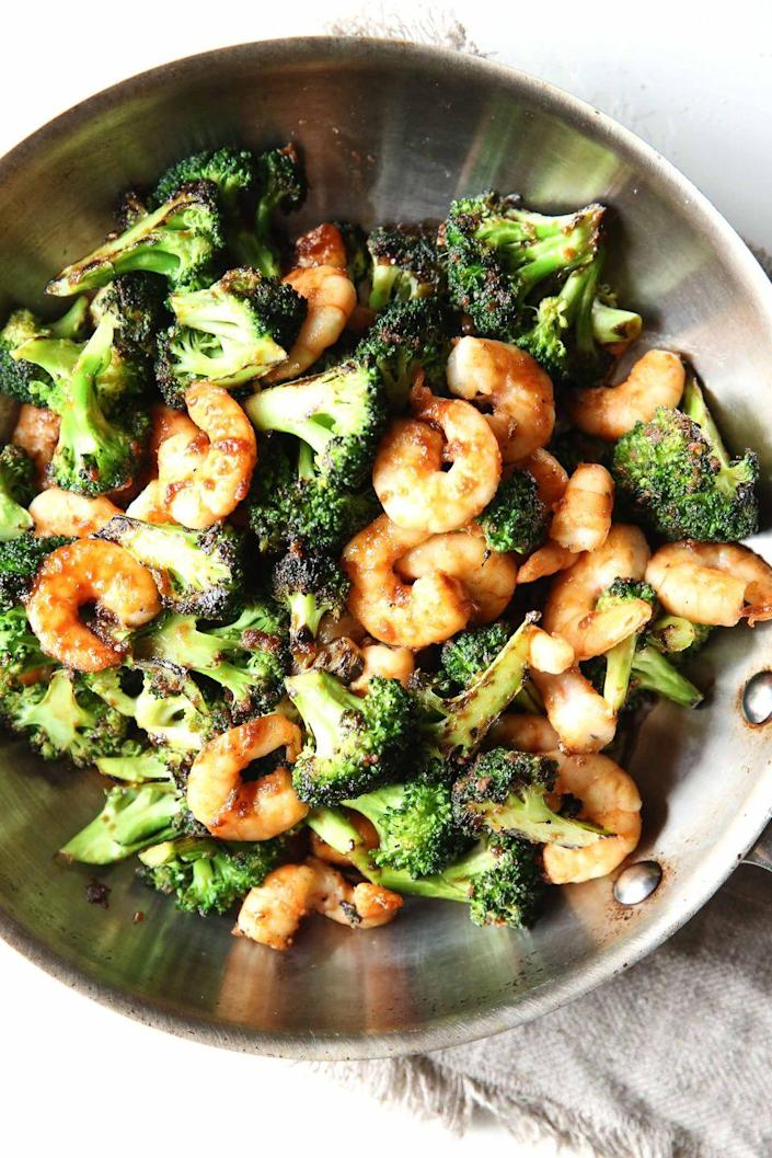 "<p>Shrimp it up.</p><p>Get the recipe from <a href=""https://www.delish.com/cooking/recipe-ideas/recipes/a51691/mongolian-shrimp-broccoli-recipe/"" rel=""nofollow noopener"" target=""_blank"" data-ylk=""slk:Delish"" class=""link rapid-noclick-resp"">Delish</a>.</p>"