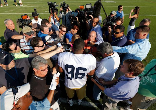 Seventh-round draft picks don't normally attract the kind of attention Michael Sam got after being picked by the Rams. (AP)