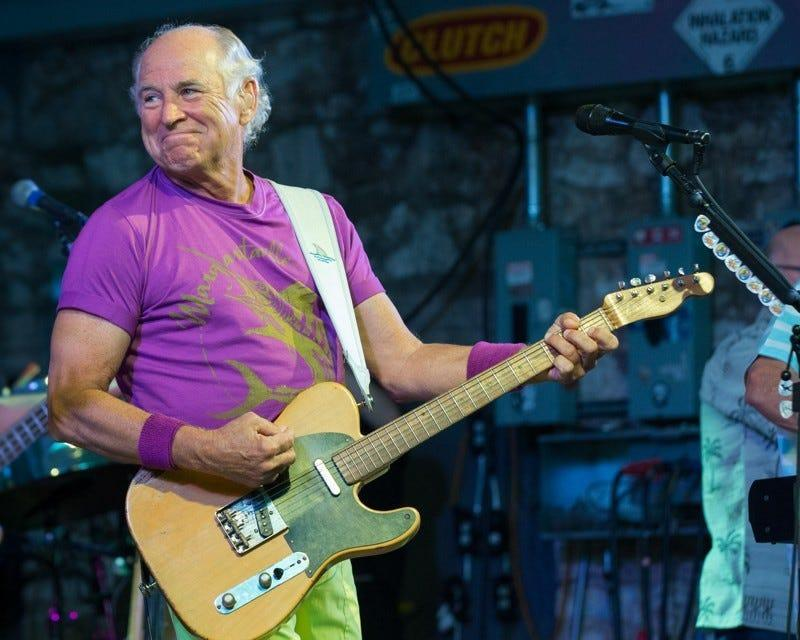 Jimmy Buffett on stage in Austin in May 2015.