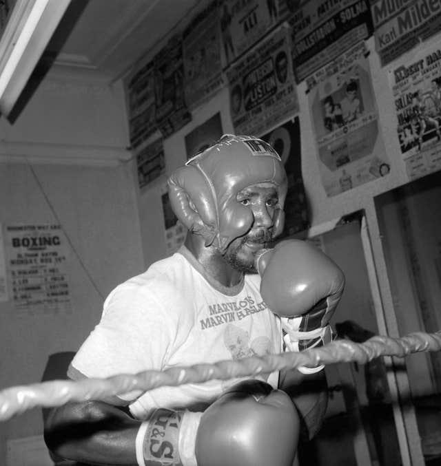 Marvin Hagler was the middleweight champion between 1980 and 1987 (PA)