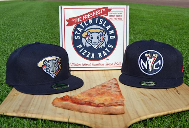 The Staten Island Yankees will rebrand as the Staten Island Pizza Rats for five games during the 2018 season. (pizzaratsbaseball.com)