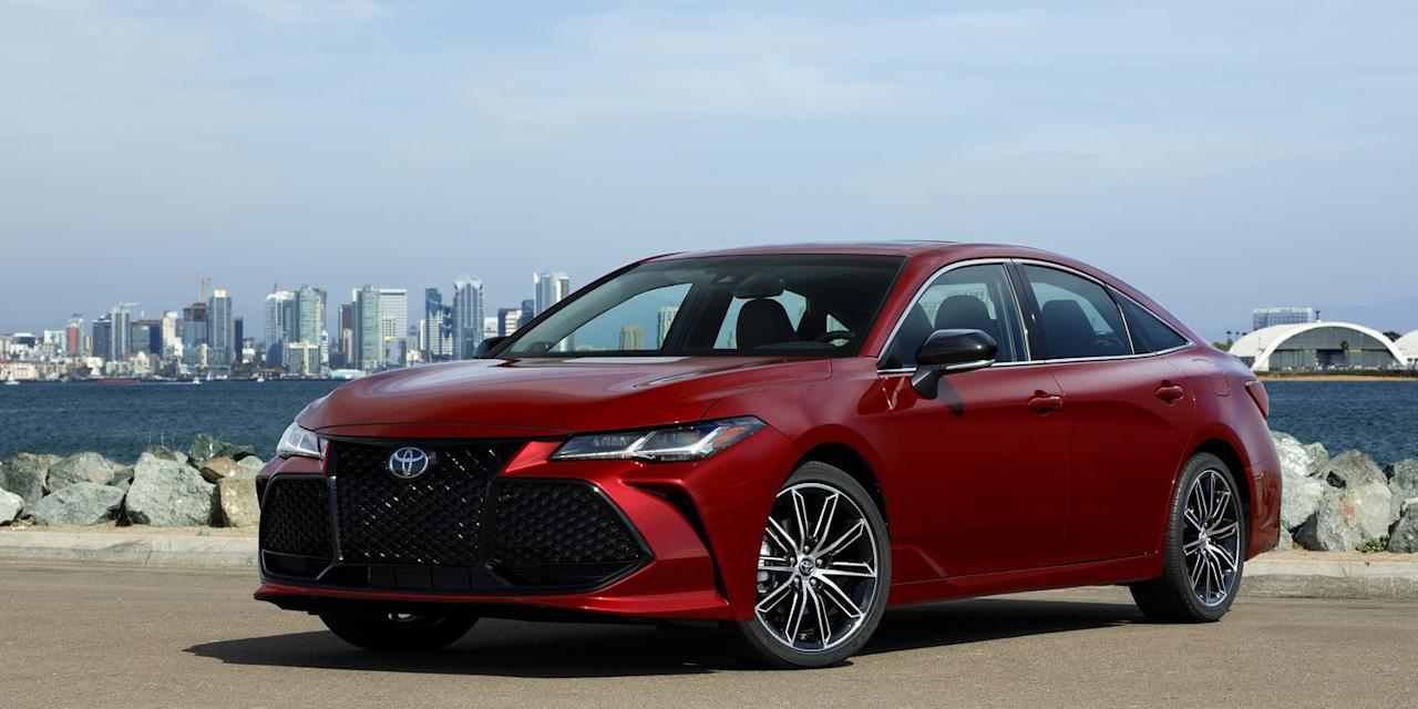 <p>The Toyota Avalon traditionally hasn't been a <em>Road & Track </em>car, but the new 2019 model gets a new 3.5-liter V6 with 301 hp. You can get this engine for a little less money in the smaller Camry, though.</p>