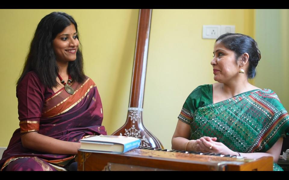 Asambhava-Chandrima shooting a story about her music teacher