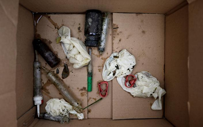Some of the waste the volunteers found - REUTERS