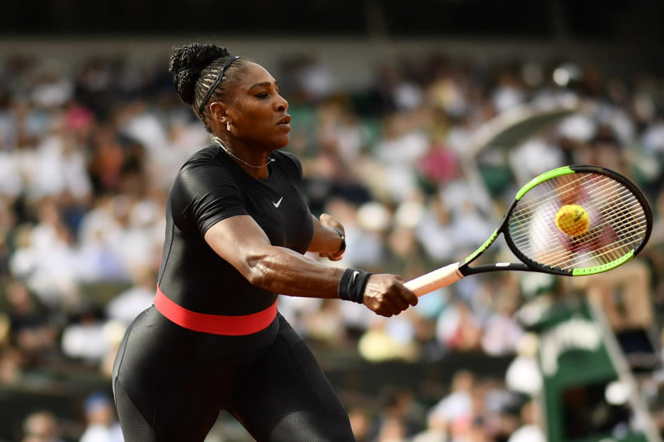 Will Serena Williams wear her famous 'Black Panther' catsuit again? [Photo: Getty]