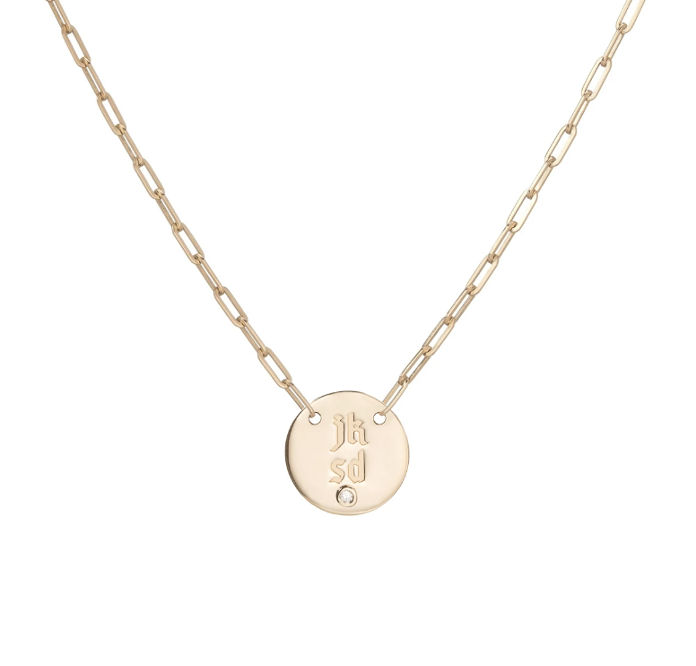 """$1190, Jennifer Fisher. <a href=""""https://jenniferfisherjewelry.com/collections/new-fine-jewelry/products/small-disc-pendant-with-diamond"""" rel=""""nofollow noopener"""" target=""""_blank"""" data-ylk=""""slk:Get it now!"""" class=""""link rapid-noclick-resp"""">Get it now!</a>"""