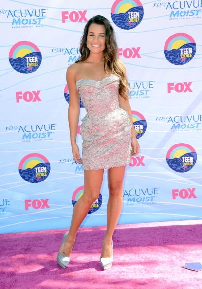 Actress Lea Michele arrives at the 2012 Teen Choice Awards at Gibson Amphitheatre on July 22, 2012 in Universal City, California. (Photo by Jason Merritt/Getty Images)