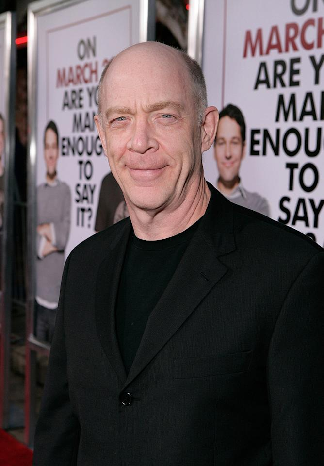 "<a href=""http://movies.yahoo.com/movie/contributor/1800307135"">J.K. Simmons</a> at the Los Angeles premiere of <a href=""http://movies.yahoo.com/movie/1810022085/info"">I Love You, Man</a> - 03/17/2009"