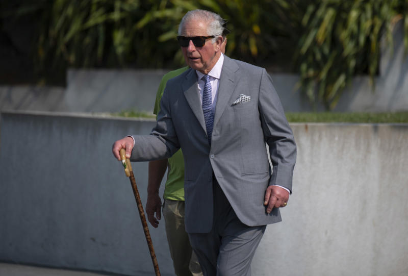 KAIKOURA, NEW ZEALAND - NOVEMBER 23: Prince Charles, Prince of Wales takes part in a coastal walk in Kaikoura with key figures working to protect the local environment on November 23, 2019 in Kaikoura, New Zealand. The Prince of Wales and Duchess of Cornwall are on an 8-day tour of New Zealand. It is their third joint visit to New Zealand and first in four years. (Photo by Victoria Jones - Pool/Getty Images)