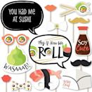 <p>Upgrade their Instagram game with the <span>Big Dot of Happiness Let's Roll - Sushi Party Photo Booth Props Kit</span> ($16). </p>
