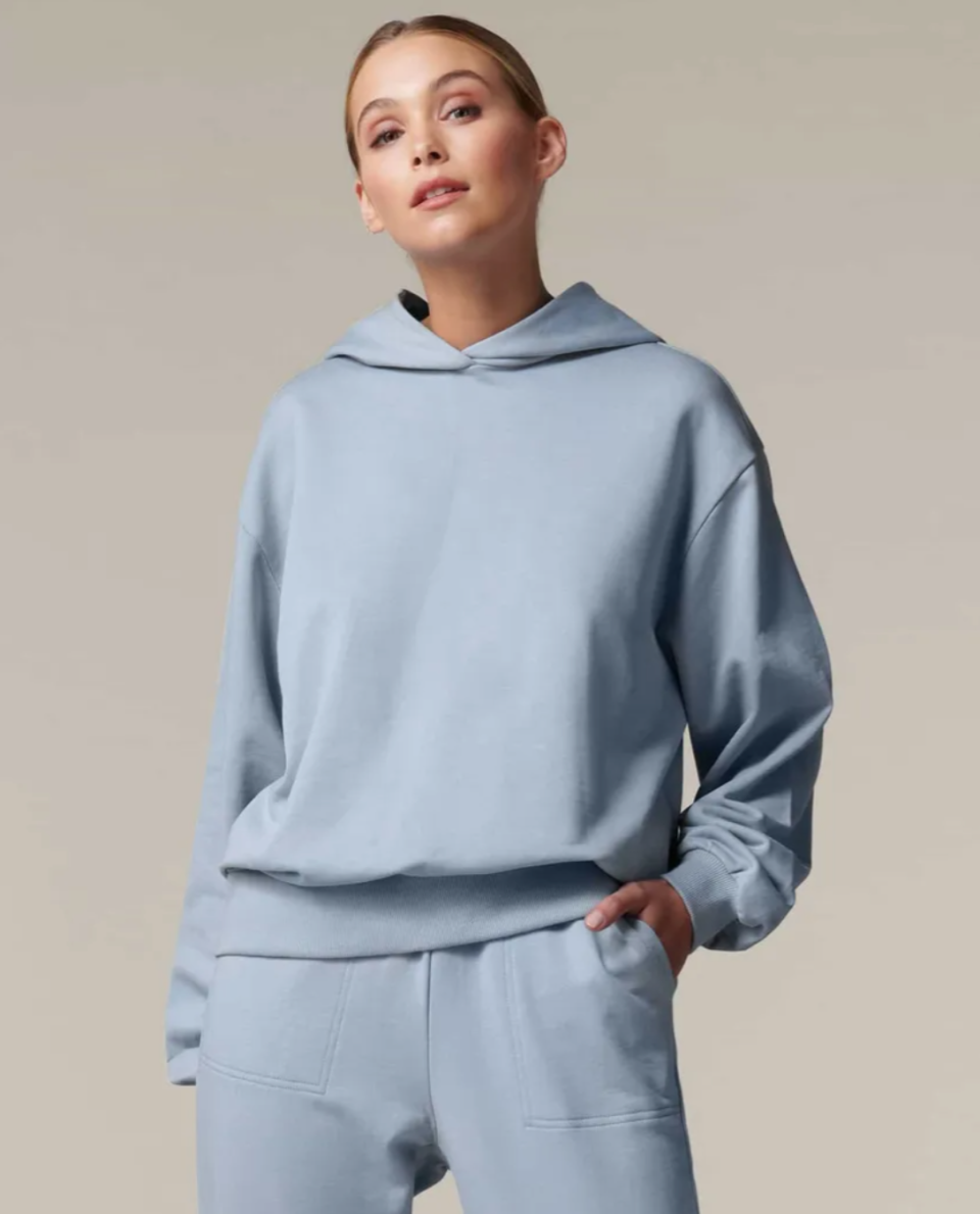 powder blue hoodie from Forever New