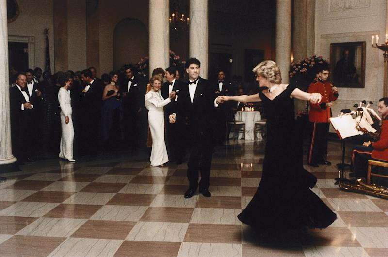 The Dress Princess Diana Wore While Dancing With John Travolta Is Up For Sale