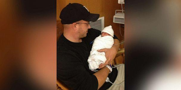 PHOTO: Steve Curto holds his son, Gavin, shortly after his birth. (Courtesy Steve Curto)