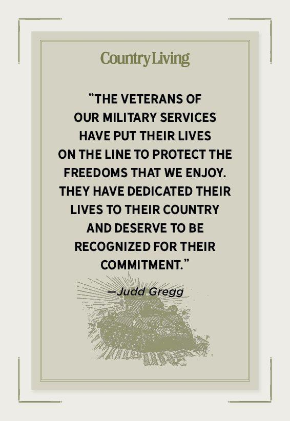 """<p>""""The veterans of our military services have put their lives on the line to protect the freedoms that we enjoy. They have dedicated their lives to their country and deserve to be recognized for their commitment.""""</p>"""