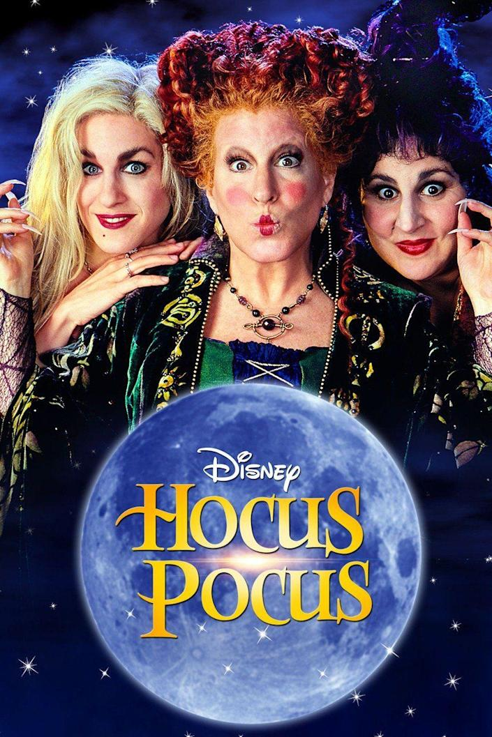 """""""Hocus Pocus""""is just one of the movies available to stream on Disney Plus."""
