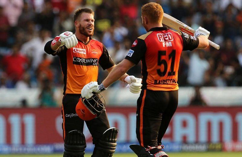 David Warner (left) and Jonny Bairstow (right) annihilated bowling attacks in IPL 2019