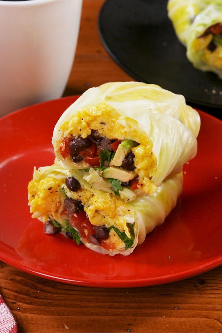 """<p>This recipe is great the way it is, but it's also a great jumping off point for making the low-carb breakfast burrito of your dreams. </p><p>Get the recipe from <a href=""""https://www.delish.com/cooking/recipe-ideas/a24798735/cabbage-breakfast-burritos-recipe/"""" rel=""""nofollow noopener"""" target=""""_blank"""" data-ylk=""""slk:Delish"""" class=""""link rapid-noclick-resp"""">Delish</a>.</p>"""