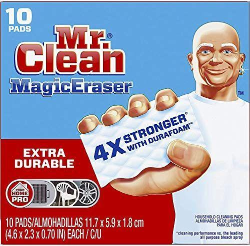 """<p><strong>Mr. Clean</strong></p><p>amazon.com</p><p><strong>$11.99</strong></p><p><a href=""""https://www.amazon.com/dp/B08492Q875?tag=syn-yahoo-20&ascsubtag=%5Bartid%7C10063.g.36389311%5Bsrc%7Cyahoo-us"""" rel=""""nofollow noopener"""" target=""""_blank"""" data-ylk=""""slk:Shop Now"""" class=""""link rapid-noclick-resp"""">Shop Now</a></p><p>People swear by the Magic Eraser, for good reason. The scrubber is tough on cleaning tasks, specifically breaking up soap scum, grease in the kitchen and dirt around the house.</p>"""