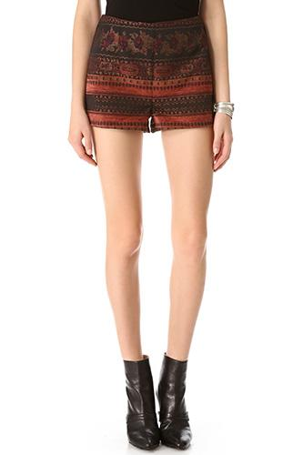 """<div class=""""caption-credit""""> Photo by: BB Dakota</div><div class=""""caption-title""""></div><b>BB Dakota</b> Ester High Waisted Jacquard Shorts, $68, available at <a rel=""""nofollow"""" href=""""http://www.refinery29.com/high-waisted-shorts"""" target=""""_blank"""">Shopbop</a>."""