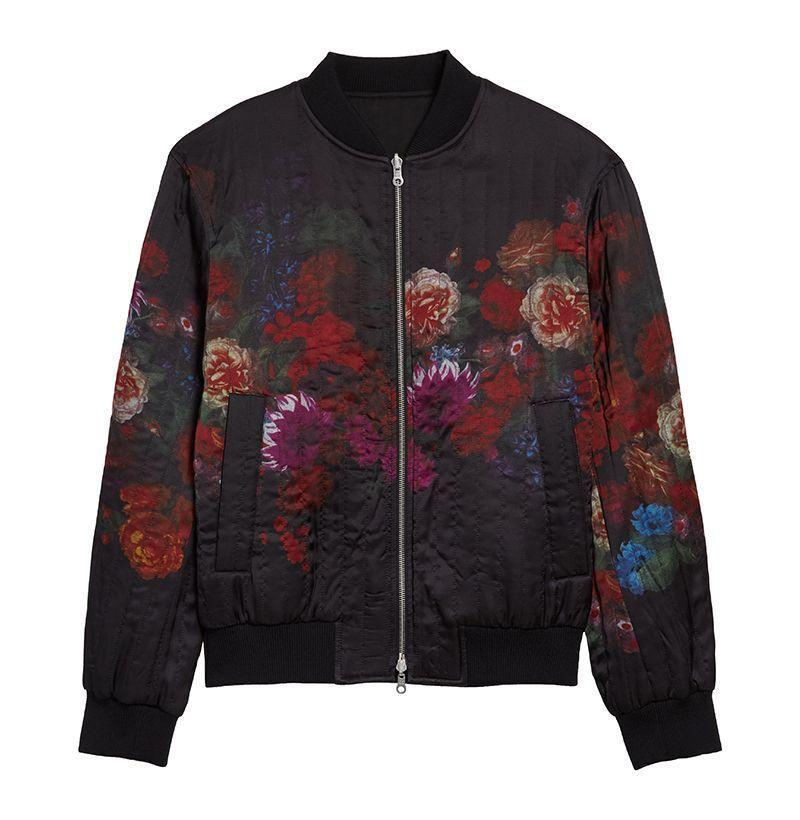 """<p><strong>DRIES VAN NOTEN</strong></p><p>nordstrom.com</p><p><strong>$1575.00</strong></p><p><a href=""""https://go.redirectingat.com?id=74968X1596630&url=https%3A%2F%2Fwww.nordstrom.com%2Fs%2Fdries-van-noten-volker-floral-quilted-bomber-jacket%2F5497548&sref=https%3A%2F%2Fwww.esquire.com%2Fstyle%2Fnews%2Fg2932%2F10-best-bomber-jackets-for-fall%2F"""" rel=""""nofollow noopener"""" target=""""_blank"""" data-ylk=""""slk:Buy"""" class=""""link rapid-noclick-resp"""">Buy</a></p><p>A reversible style from the beloved Belgian designer. </p>"""
