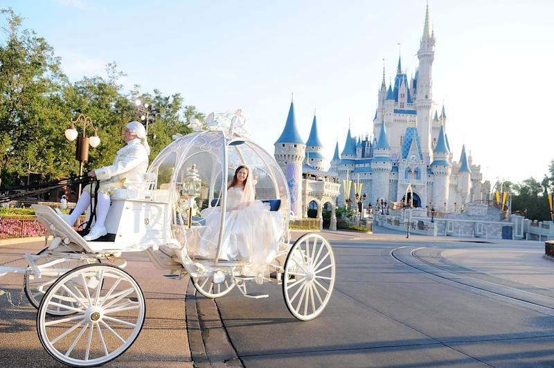LAKE BUENA VISTA, FL - MAY 10: Alexis Preston poses before her wedding ceremony at Magic Kingdom Walt Disney World Resort on May 10, 2018 in Lake Buena Vista, Florida. Late last summer, Alexis Preston and Jay Patel's wedding plans were washed away by Hurricane Harvey which left their Houston home flooded, ruined their car and put their dreams on hold. In honor of the upcoming royal nuptials of Meghan Markle and Prince Harry, Disney's Fairy Tale Weddings and ABC's Good Morning America teamed up on a national search for a couple worthy of a wedding with all the royal trappings. Alexis and Jay, exuberant Disney fans who got engaged at Cinderella's Royal Table and dreamed of getting married in the Magic Kingdom, were selected from more than 2,500 couples for a regal wedding fit for royalty. (Photo by Gerardo Mora/Getty Images)