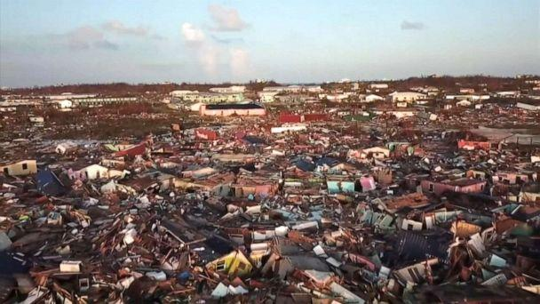 PHOTO: An aerial view of the area damaged by Hurricane Dorian on the Abaco Islands in the Bahamas. (ABC News)