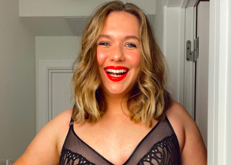 M&S have been praised for their choice of model in a lingerie post shared to Instagram. (Pictured Sophie Edwards, Instagram/Marks & Spencer)