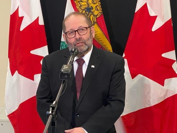 Sonny Gallant is the interim leader of the Prince Edward Island Liberal Party; he is shown at the legislature on Feb. 25.