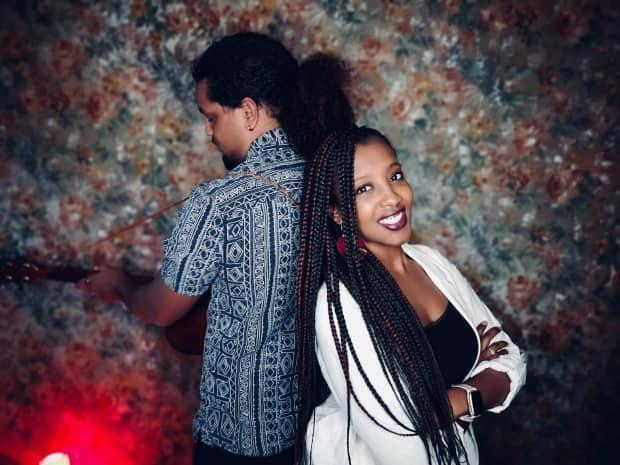 Spoken word and music duo I.M.F., right, and Raffiki have joined in weekly this month for some of the Art Gallery of Ontario's virtual field trip sessions.