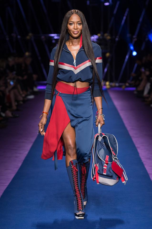 <p>Catwalk queen Naomi Campbell made a fierce return at Versace. <i>[Photo: Versace]</i></p>