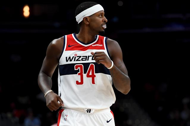 After injuring his wrist on Tuesday against the Nuggets, Wizards forward CJ Miles may require season-ending surgery (Will Newton/Getty Images)
