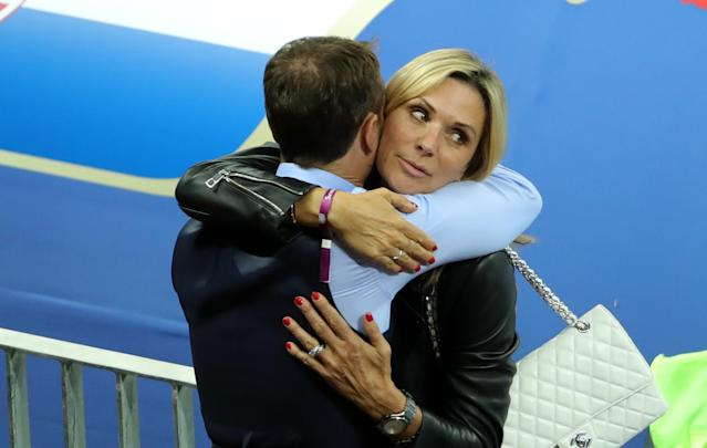 <p>Gareth Southgate with his wife Alison. </p>