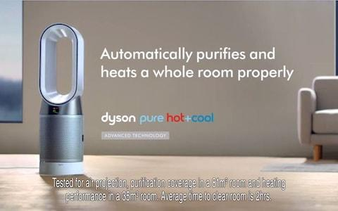 The final scene of the advert where Dyson said the fan's chord was clearly visible to viewers - Credit: ASA