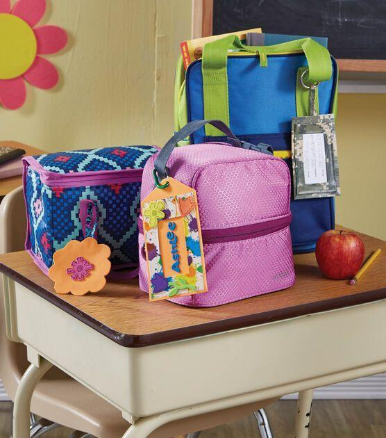 """<p>Never forget a lunch box or pencil case again with these tags, which also get to show off your personality.</p><p><a href=""""https://go.redirectingat.com?id=74968X1596630&url=https%3A%2F%2Fwww.joann.com%2Fkids-identifier-tags%2F3165880P149.html&sref=https%3A%2F%2Fwww.goodhousekeeping.com%2Fhome%2Fcraft-ideas%2Fg22593259%2Fback-to-school-diy%2F"""" rel=""""nofollow noopener"""" target=""""_blank"""" data-ylk=""""slk:Get the tutorial at JOANN »"""" class=""""link rapid-noclick-resp""""><em>Get the tutorial at JOANN »</em></a></p>"""