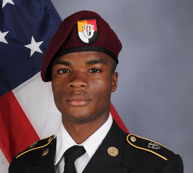 U.S. Army Sgt. La David Johnson, who was among four special forces service members killed in Niger, West Africa, on Oct. 4, poses in a handout photo.