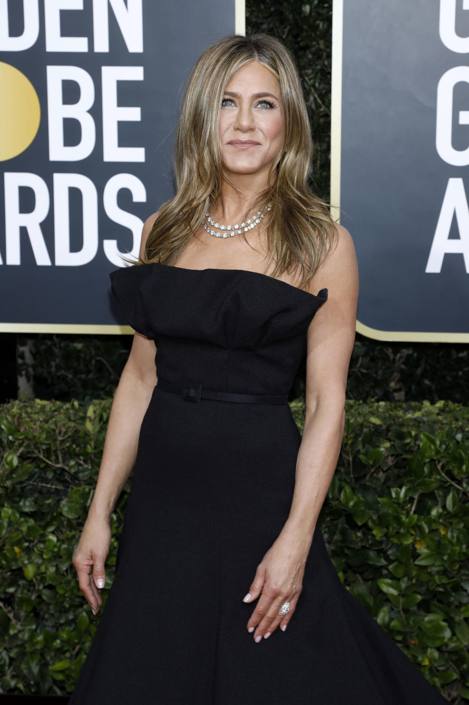 """A perpetual Hollywood favourite, <a href=""""https://ca.search.yahoo.com/search?p=JenniferAniston&fr=fp-tts&fr2"""" data-ylk=""""slk:Jennifer Aniston's"""" class=""""link rapid-noclick-resp"""">Jennifer Aniston's</a> year was filled with memorable red carpet moments, including the aforementioned run-in with ex-husband, Brad Pitt. Aside from nabbing a Screen Actors Guild Award for her role on """"The Morning Show"""", Aniston remained relatively low-key during 2020. The 51-year-old spent her time raising money for COVID-19 relief and used social media to urge her more than 35.6 million followers to follow pandemic safety regulations and encouraged eligible votes to participate in the 2020 U.S. presidential election. Towards the end of the year, Aniston revealed she was back on set to film season 2 of """"The Morning Show"""" for AppleTV+."""