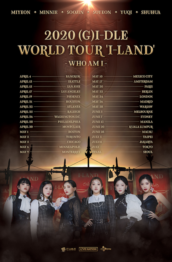 GIDLE Full K pop group (G)I DLE announce first world tour