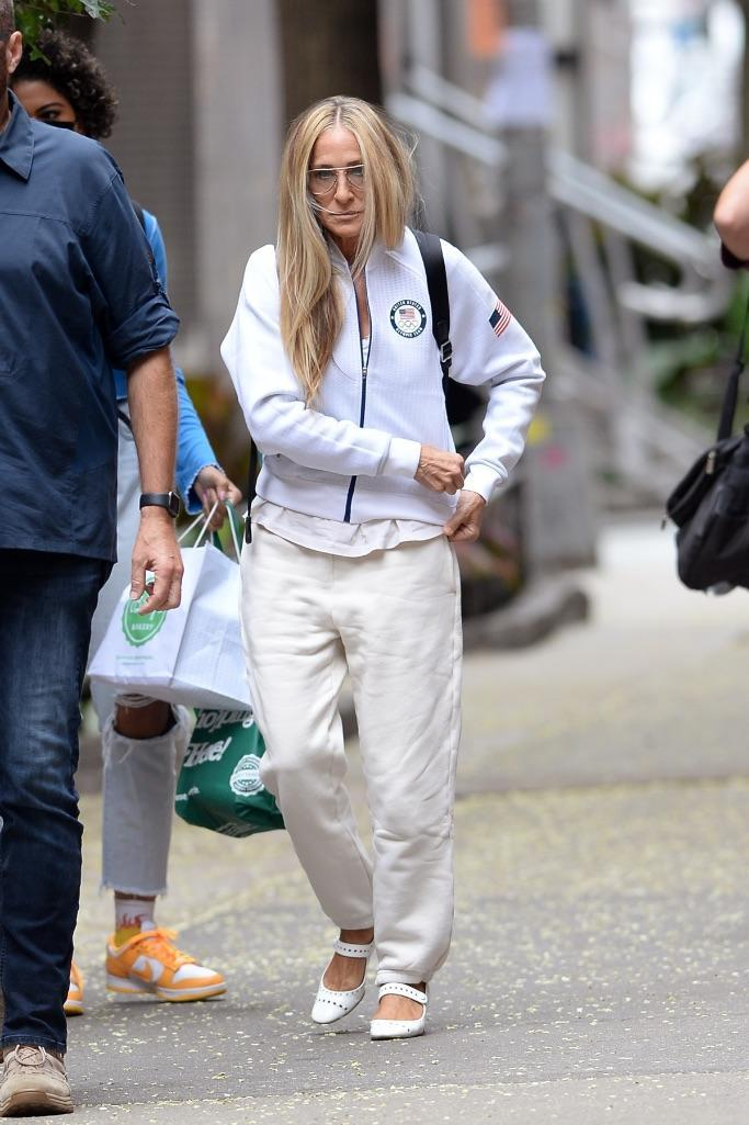 Sarah Jessica Parker on the set in New York.