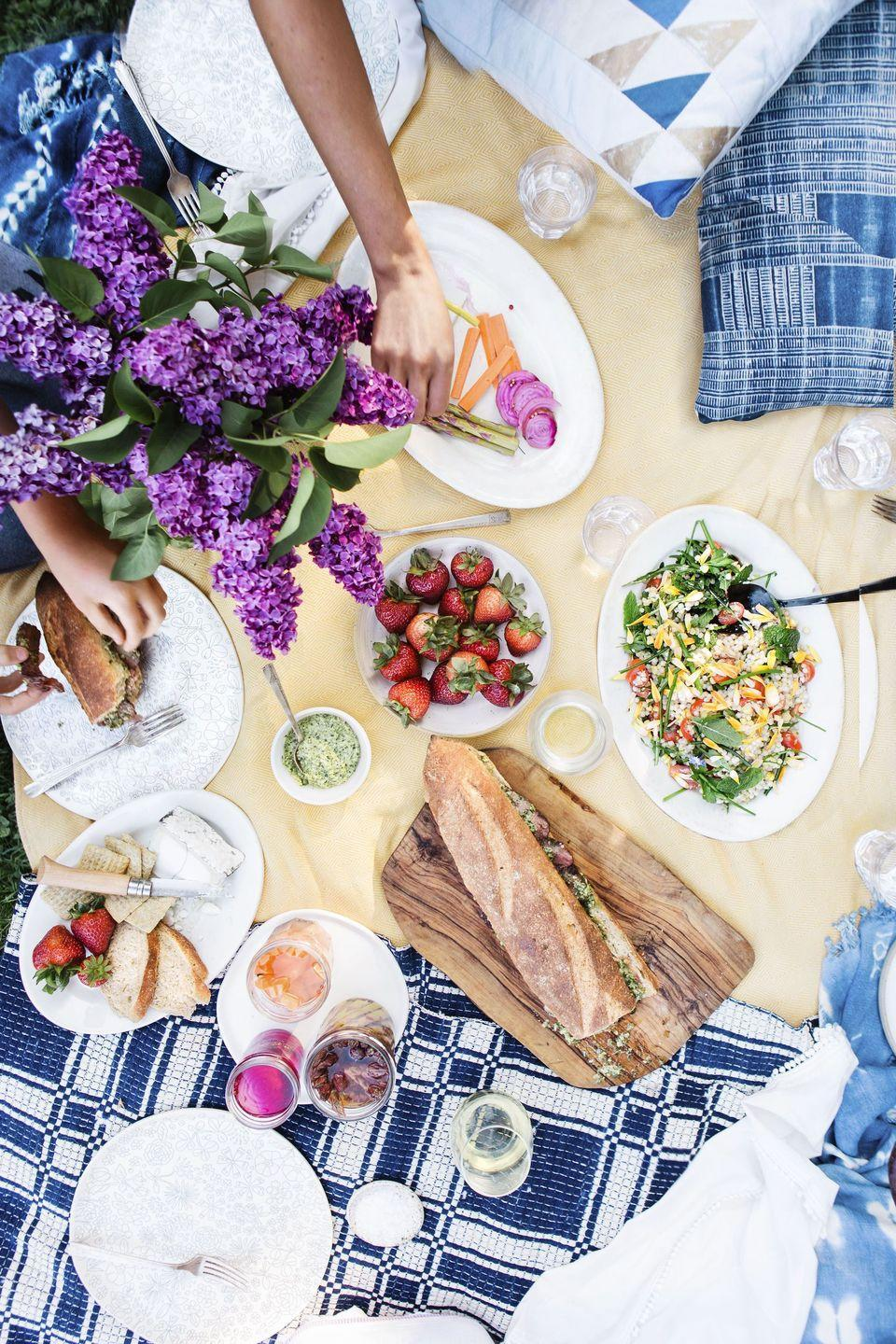 """<p>Showcase summer veggies with this flavorful salad. If something on the list isn't in season, swap it out for something else. </p><p><em><a href=""""http://www.womansday.com/food-recipes/a32884015/fresh-corn-tomato-herb-and-israeli-couscous-salad-recipe/"""" rel=""""nofollow noopener"""" target=""""_blank"""" data-ylk=""""slk:Get the Fresh Corn, Tomato, Herb & Israeli Couscous Salad recipe."""" class=""""link rapid-noclick-resp"""">Get the Fresh Corn, Tomato, Herb & Israeli Couscous Salad recipe. </a></em></p>"""