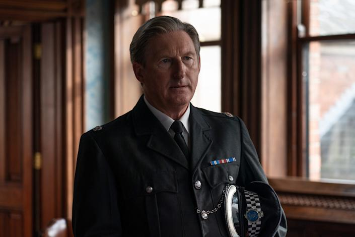WARNING: Embargoed for publication until 00:00:01 on 23/03/2021 - Programme Name: Line of Duty S6 - TX: n/a - Episode: Line Of Duty - Ep 2 (No. n/a) - Picture Shows: *NOT FOR PUBLICATION UNTIL TUESDAY 23RD MARCH, 2021* Superintendent Ted Hastings (ADRIAN DUNBAR) - (C) World Productions - Photographer: Chris Barr