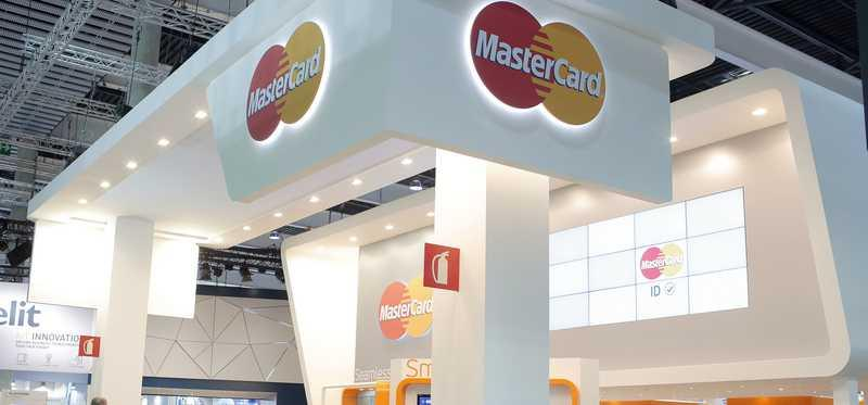 Mastercard booth at mobile world conference 2016.